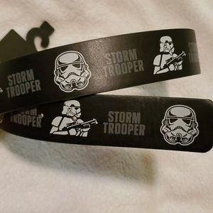 NWT Star Wars Storm Trooper Vegan Belt